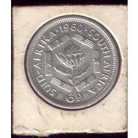 6 пенсов 1960 год ЮАР