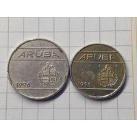 Аруба 2 монеты 25 и 10 с
