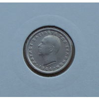 Греция, Павел I (1947-1964), 50 лепта 1964 г., медно-никель, в холдере