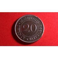 20 центов 1990. Маврикий. Отличная!