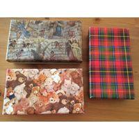 Подарочные коробки рр. 21 на 12, высота 4 см. Цена за 3 штуки.