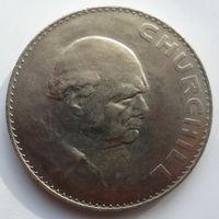 """Великобритания 1 крона (5 шиллингов) 1965 """"Cэр Уинстон Черчилль"""""""
