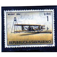 Сан-Марино. Ми-719. Райт (1904). Серия: Классические самолеты. 1962.