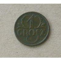 1 грош 1927 года.