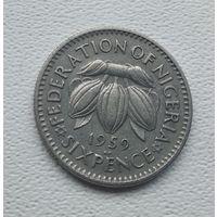 Нигерия 6 пенсов, 1959  5-1-13