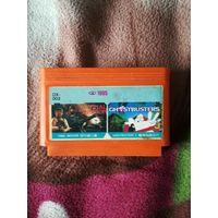 Картридж для денди, Dendy, Сюбор, Lifa, 8 бит, 8 bit  2 in 1: Ghostbusters III & Final Mission