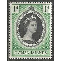 Кайманы. Коронация королевы Елизаветы II. 1953г. Mi#151.
