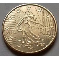 10 евроцентов, Франция 2014 г., AU