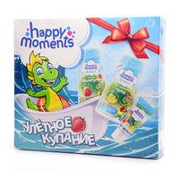 Набор подарочный ДРАКОША HAPPY MOMENTS Улетное купание (Шампунь 240 мл + зубная паста 60 мл + пена для купания 240 мл)