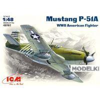 Mustang P-51A, ВВС США, сборная модель самолета 1/48 ICM 48161