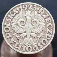 20 грошей 1923 ПОЛЬША - медно - никель