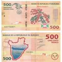 Бурунди 500 франков образца 2015 года UNC