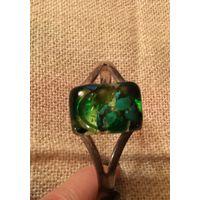 Браслет Муранское стекло Сочная зелень Италия винтаж