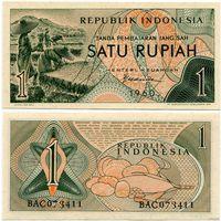 Индонезия. 1 рупия (образца 1960 года, P76, UNC)