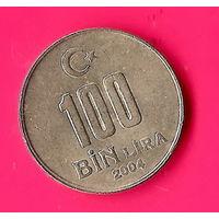 14-11 Турция, 100000 лир 2004 г.
