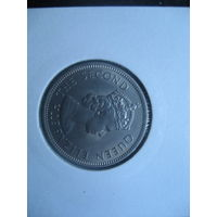 Сейшельские острова 1/2 рупии 1960 UNC!