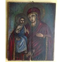 Икона Троеручица большой размер 19 век 52х41 без реставрации Белорусская икона