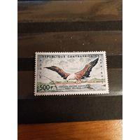 1960 Центрально-Африканская республика Мих 14 концовка оценка 6 евро фауна птицы авиапочта (3-4)