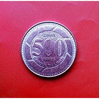 82-08 Ливан, 500 ливров 2000 г.