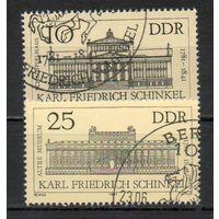 200-летие со дня рождения К. Ф. Шинкеля  ГДР 1981 год серия из 2-х марок