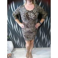 Платье леопардовое 50размер