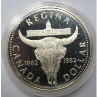 Канада, доллар, 1982, серебро, пруф