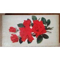 """Коробка конфет от набора """"Роза"""" ф-ка Коммунарка. 1968 г. 16х28 см"""