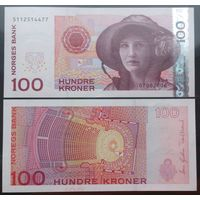 Норвегия. 100 крон (образца 2006 года, P49c, UNC)