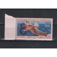Мавритания Чайка над морем надпечатка (Европа) 1962 год чистая одиночка