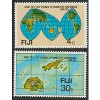 1977 Фиджи 361-362 Карта Фиджи
