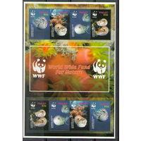 Палау WWF Моллюски 2006 год чистый полный лист из 2-х серий