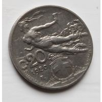 Италия 20 чентезимо, 1920 Старый тип: Женщина с колосом 2-11-14