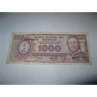 Парагвай 1000 гуарани 1952 года