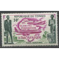 1961 Конго Браззавиль 12 Самолеты