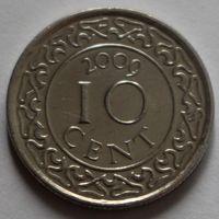 Суринам, 10 центов 2009 г