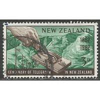 Новая Зеландия. 100 лет телеграфу. 1962г. Mi#420.
