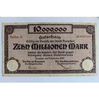 Германия (Dresden), 10 млн. марок 1923 год.