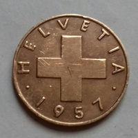 1 раппен, Швейцария 1957 г.