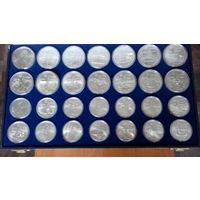 Канада.Олимпиада в Монреале 1976г.5 долларов - 14 монет, 10 долларов -14 монет. Серебро 0,925.
