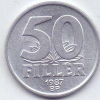 Венгрия, 50 филлеров 1987 года.