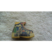 """Франция. Значёк """"LES LINDARETS"""". ботинок. распродажа"""