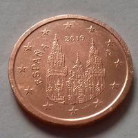 2 евроцента, Испания 2019 г., AU