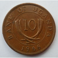 "Уганда 10 центов 1966 ""Изогнутые бивни"""