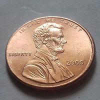 1 цент США 2000, 2000 D, AU