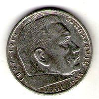 Германия 2 марки 1939 года. A.
