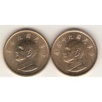 1 доллар 2001, 2006 г. Слева на право.