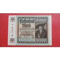 5000 Марок -1922- ГЕРМАНИЯ - III Рейх -c-