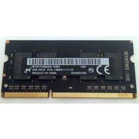 2GB DDR3 Low Voltage (1.35V) PC3L-12800 (1600MHz) память для ноутбука|нетбука, Micron