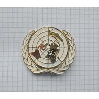 """Франция. Кокарда """"Миротворца"""", беретный знак для миссий ООН"""
