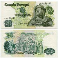 Португалия. 20 эскудо (образца 1971 года, P173, подпись 9, aUNC)